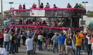 Mardi Gras 2012 Very Pink Orange Beach